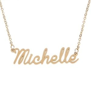Jewelry - Michelle Gold Name Nameplate Necklace B25